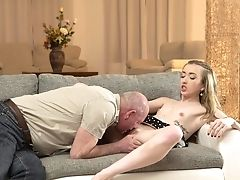 Babe, Blowjob, Couch, Creampie, Dick, Doggystyle, Fingering, HD, Old, Old And Young,