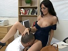 Brunette, Classroom, College, Diana Prince, Dress, Hardcore, Legs, Licking, Long Legs, Moaning,