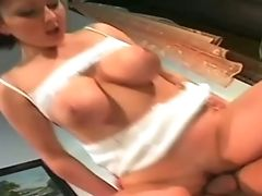 Babe, Big Tits, Blowjob, Brunette, Hardcore, Norwegian,