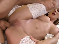 Alice Romain, Anal Sex, Ass Fucking, Babe, Brunette, Doctor, Doggystyle, Hospital, Shaved Pussy, Stockings,