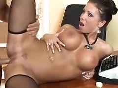 Anal Sex, Black, Candy Strong, Fucking, Hardcore, Italian, Secretary, Stockings,