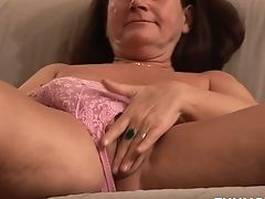 Couch, Cute, Dirty, Fingering, Granny, Horny, Jerking, Mature, Redhead, Saggy Tits,