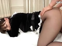Hardcore, Japanese, Maid, Nylon, Pantyhose, Stockings, Upskirt,