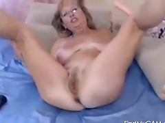 Blonde, Bold, Clamp, Glasses, Gorgeous, Masturbation, MILF, Model, Natural Tits, Pussy,