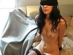 Blindfold, Blowjob, Handcuffed, Rough, Stockings,