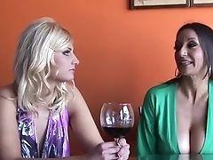 Drunk, Lesbian, MILF, Pornstar, Rachel Love, Threesome,