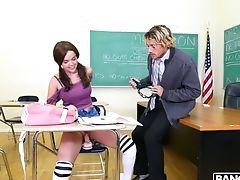 малышка, минет, лысый, брюнетки, студентка, Dillion Harper, дрочка, хардкор, трусики, хвостик,