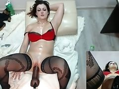 Dildo, Dirty, Fucking Machine, MILF, Slut, Stockings,