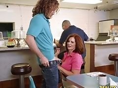 Couple, Handjob, Hardcore, MILF, Public, Pussy, Reality, Uniform,