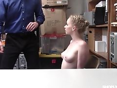 Blonde, Blowjob, Couple, Cum On Tits, Cumshot, Hardcore, Missionary, Natural Tits, Office, Punishment,