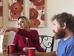 Aunt, Blonde, Blowjob, Brianna Beach, Cheating, Couch, Holiday, MILF, POV,