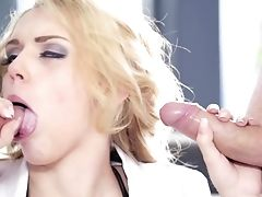 All Holes, Anal Sex, Ass, Big Tits, Blonde, Cum, Cumshot, Dick, Doggystyle, Double Penetration,