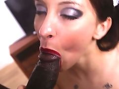 Anal Sex, Big Black Cock, Black, Blowjob, Brunette, Clamp, Creampie, Doggystyle, Hardcore, HD,