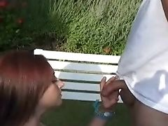 Blowjob, Cameron Love, Close Up, Couple, Hardcore, Natural Tits, Oral Sex, Outdoor, Panties, Pussy,