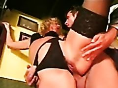Anal Sex, Ass, Big Cock, Blonde, Boobless, Curly, Doggystyle, Dress, Glasses, Stockings,