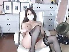Amateur, Big Tits, Ethnic, Korean, Masturbation, Sexy, Stockings, Teen, Uniform, Webcam,