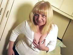 Amateur, Blonde, British, Granny, Legs, Mature, Pussy, Sex Toys, Sexy,