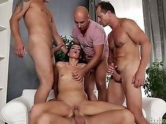 Anal Sex, Ass, Babe, Beauty, Blowjob, Boobless, Brunette, Cumshot, Double Penetration, Facial,