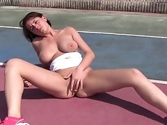 Babe, Big Tits, Fingering, HD, Masturbation, Moaning, Natural Tits, Outdoor, Schoolgirl, Solo,