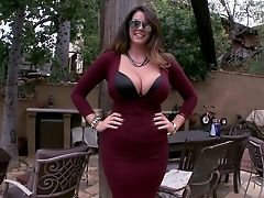 Alison Tyler, Ass, Babe, BBW, Big Ass, Big Tits, Brunette, Clothed Sex, Cute, Dress,