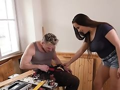 Babe, Beauty, Big Tits, Blowjob, Cum In Mouth, Cumshot, Facial, HD, Huge Cock, Makeup,