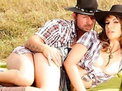 Alice Romain, Anal Sex, Cowgirl, MILF, Outdoor, Riding,