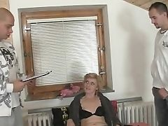Delivery Guy, Granny, Group Sex, Mature, Old, Pussy, Threesome,