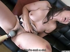 Blowjob, Brunette, Fingering, Flexible, Hairy, Handjob, Jerking, Sex Toys, Teen, Vibrator,