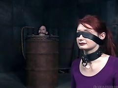 BDSM, Blindfold, Dungeon, Fetish, Redhead, Torture,