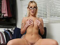 Amateur, Big Ass, Blonde, Blowjob, Doggystyle, Facial, Glasses, Hardcore, HD, Legs,