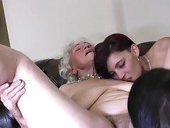 Amateur, Fingering, Granny, Horny, Juicy, Lesbian, Mature, Pussy,