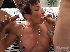 Blowjob, Bodybuilder, Facial, Female Bodybuilder, HD, Mature, Muscular, Nude,