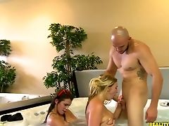 Big Tits, Blonde, Brunette, Group Sex, Hardcore, HD, Jacuzzi, Money, Reality, Teen,