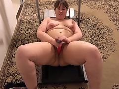 Amateur, BBW, Chubby, Cunt, Dildo, Female Orgasm, Hairy, Jerking, Masturbation, Mature,