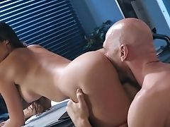 Babe, Blowjob, Brunette, Business Woman, Couch, Cowgirl, Cum In Mouth, Cumshot, Dick, Doggystyle,