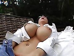 Cumshot, Deauxma, Fondling, Handjob, Jeans, Masturbation, MILF, Moaning, Outdoor, Striptease,