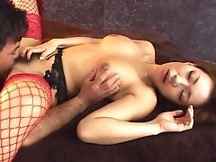 Akane Hotaru, Blowjob, Bra, Couple, Cowgirl, Dick, Fat, Fishnet, Hardcore, Japanese,