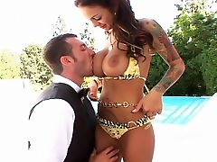 Angelina Valentine, Big Tits, Licking, Nature, Outdoor, Pussy, Screaming, Swimming, Tanned, Tattoo,