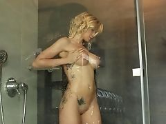 Behind The Scenes, Big Tits, Blonde, Fingering, Legs, Masturbation, MILF, Piercing, Pussy, Sex Toys,
