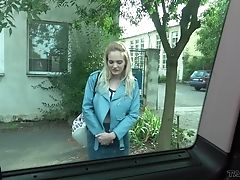Big Tits, Blonde, Blowjob, British, Car, Clothed Sex, Couple, Doggystyle, Fake Tits, Fucking,