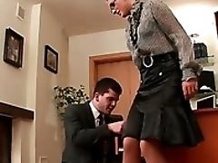 Beauty, Femdom, Hardcore, Office, Skirt, Worship,