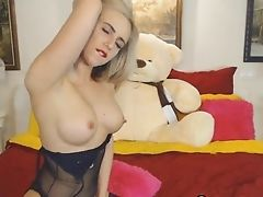 Blonde, Clit, Lingerie, Long Hair, Masturbation, Model, Solo, Webcam, Wild,
